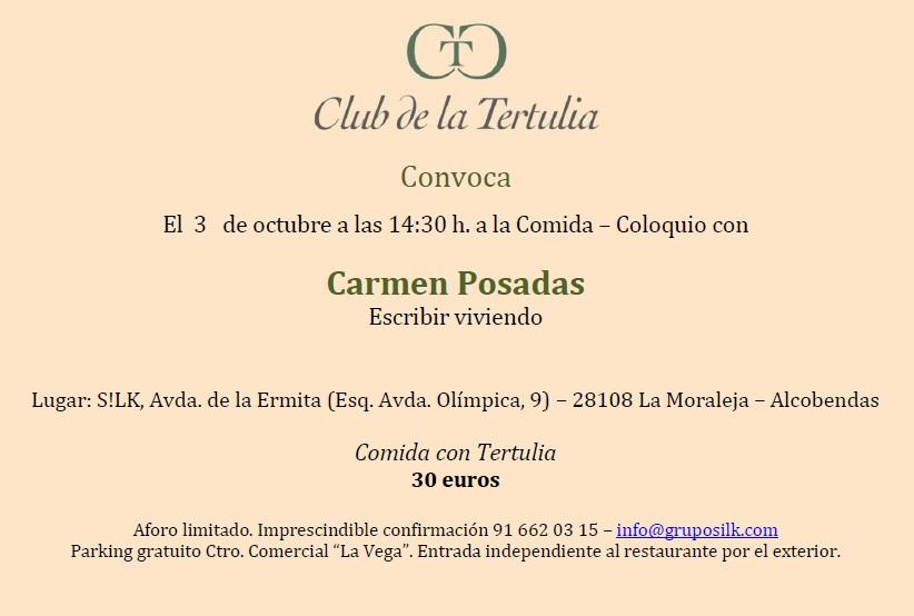 Club tertulia Carmen Posadas