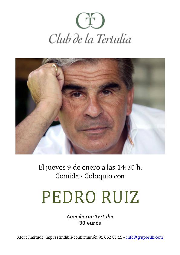 Tertulia Pedro Ruiz