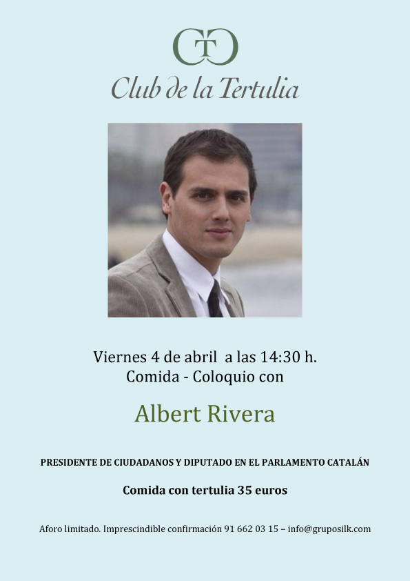cLUB DE LA tERTULIA albert rivera